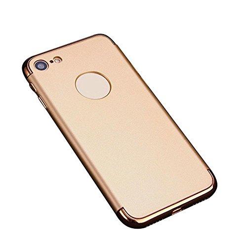 KOBWA iPhone 7 Hülle, 3 in 1 Ultra Dünner Harter Anti-Kratzer Stoßfestes Elektrodengestell mit Beschichteter Oberfläche Ausgezeichneter Griff-Fall für Apple iPhone 7