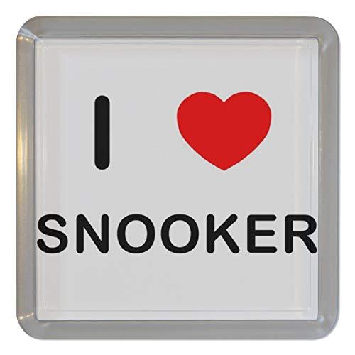 I Love Heart Snooker - Durchsichtigen Kunststoff Teeküstenmotorschiff/Bierdeckel