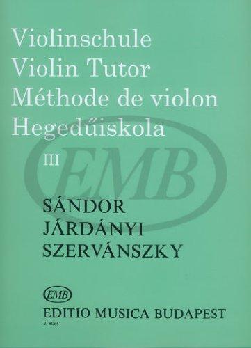 Méthode de violon Vol.3 (Violin Tutor)