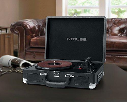 Muse MT-101 LT Negro tocadisco - Tocadiscos (Negro, 33,45,78 RPM, 78 RPM, 3,5 mm, 100-240, 50/60)
