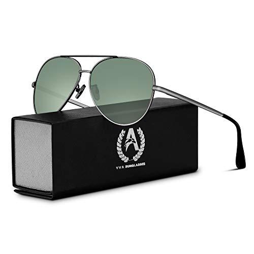 VVA Sonnenbrille Herren Pilotenbrille Polarisiert Pilotenbrille Polarisierte Sonnenbrille Herren...