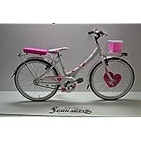 Cicli Ferrareis bicicletta da Bambina Venere 24 1v in alluminio Bianca personalizzabile