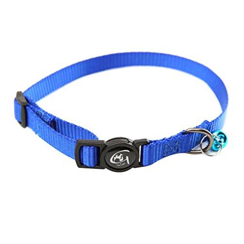 Morza Nylon Verstellbare Katzenhalsband mit Glocke Reflektierendes Katzenhalsband Haustier-Welpen-Ausschnitt Gürtel Seil Stoff Cord -