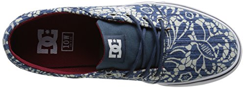 DC TRASE TX SE J SHOE PRB, Low-Top Sneaker donna Blu (Blau (DENIM))
