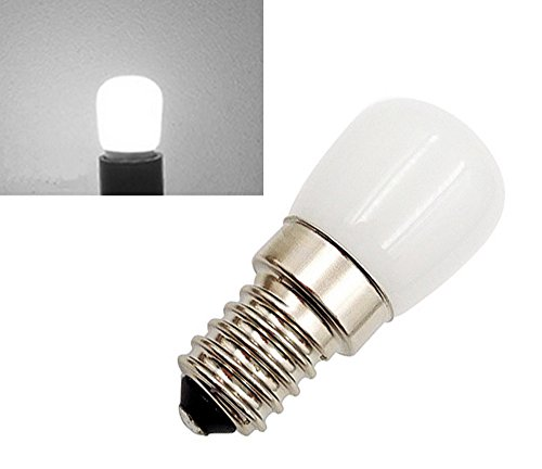 2-Packs 1.5W SES-LED-Lampe Cool White 6000K 220-240 Volt 15 Watt Equivalent Kleine Edison Screw E14 LED Pygmy Birne für Kühlschrank / Mikrowelle / Dunstabzug / Nähmaschine (Led Kühlschrank-lampe Cool White)