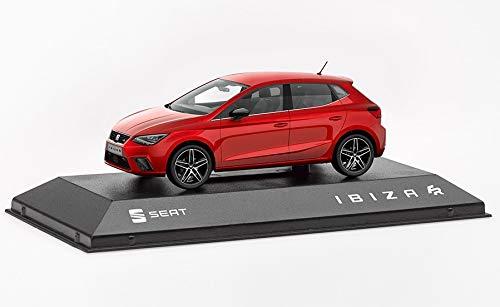 Seat - Modellino auto originale in metallo Ibiza FR, scala 1:43, colore: rosso desiderio