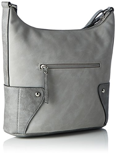 Gerry Weber Damen Somersault Shoulderbag Schultertasche, 12 x 34 x 30 cm Grau (Light Grey)