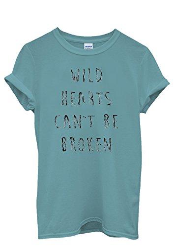 Wild Hearts Can't Be Broken Bad Girl Cool Funny Men Women Damen Herren Unisex Top T Shirt Licht Blau