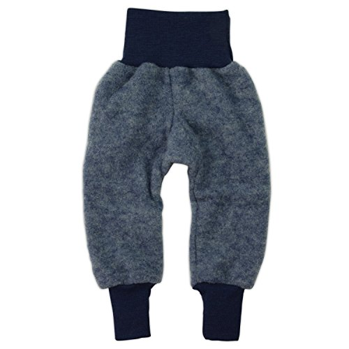 Cosilana Hose Woll-Fleece, Größe 62/68, Farbe Marine melange - Vertrieb nur durch Wollbody® Baby-hose Natur