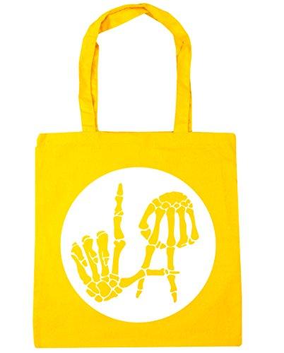 HippoWarehouse ,  Damen Strandtasche Gr. Einheitsgröße, gelb (Gelben T-shirt Text)