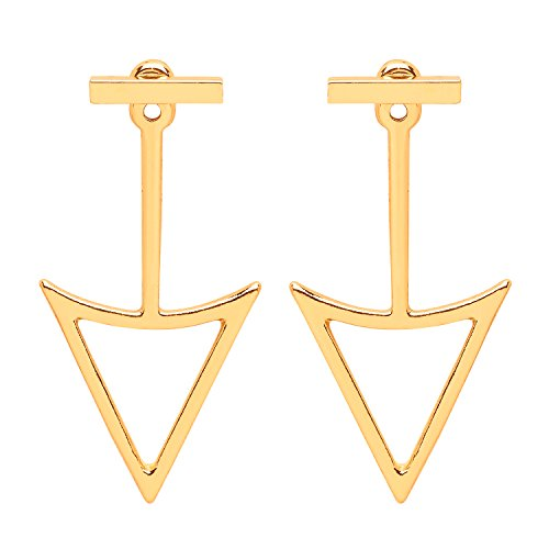 front-row-gold-colour-bar-and-open-triangle-stud-earrings