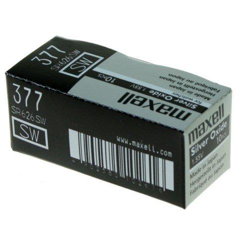 Maxell - SR626 SW Pila de Óxido de Plata 1.55V / 10 unidades