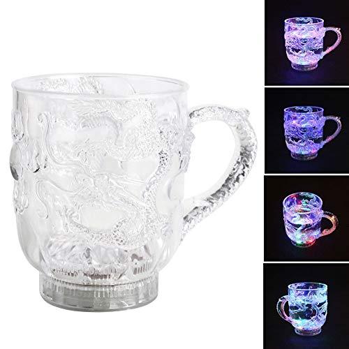 Liquid Activated Drinkware für Bar Club Weihnachtsfeierbedarf, Drache gedruckt size 1 Pcs ()
