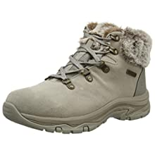Skechers Women's Trego Ankle Boot, Taupe Suede/Nylon, 6 UK