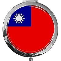 "metALUm - Extragroße Pillendose in runder Form""Flagge Taiwan"" preisvergleich bei billige-tabletten.eu"