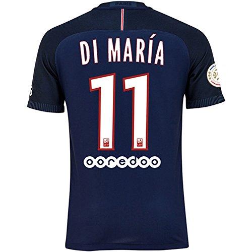 OHOOL Paris Saint Germain PSG FC N ° 11Angel di Maria pour Homme Home Away Troisième Maillot de Football avec L1Champion Badge 2016/17Taille S/M/L/XL L Home Shirt