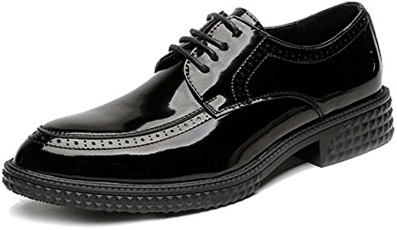 SRY-scarpe Scarpe da Uomo in Pelle Sintetica Liscia Semplice da Uomo Stringate in Fodera Professionale Traspirante | Distinctive  | Sig/Sig Ra Scarpa