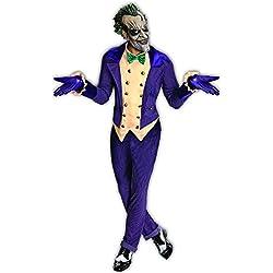 Rubies - Disfraz de Joker de Batman Arkham City y máscara para adulto, talla única hasta 44 (I-880585STD)