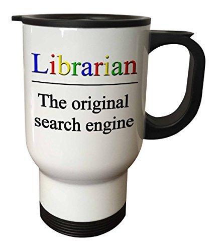 statuear Bibliothekar Edelstahl 14-ounce Reise Tasse Nissan Thermos Mug