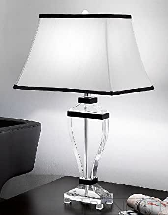 Lampe Hugo 70,5 cm en cristal et soie