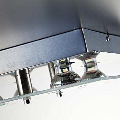 Led deckenleuchte deckenlampe wohnzimmer gu10 4 flammig a for Deckenlampe viereckig