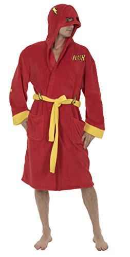 DC Comics Unisex-Erwachsene Die Flash-Kostüm-Hooded - Rot Hooded Robe Für Erwachsene Kostüm