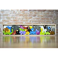 ‏‪BeginAgain Animal Parade A to Z Puzzle and Playset - Educational Wooden Alphabet Puzzle - 2 and Up‬‏
