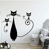 Applikation Retro Katze Vinyl Küche Wandaufkleber Tapete Für Wohnzimmer Kinderzimmer Aufkleber Kreative Aufkleber X cm