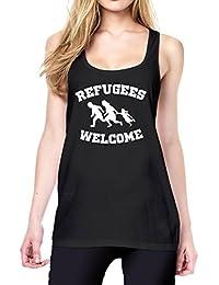 Refugees Welcome Tanktop Girls Black