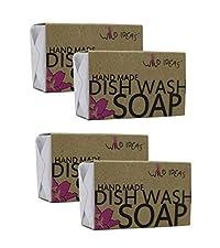 Wild Ideastm Hand-Made Dish Wash Soap Bar - 100gx4