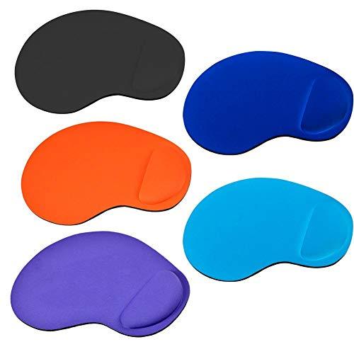Preisvergleich Produktbild Leap-G Maus Pad,  5pcs Ergonomische Handgelenkauflage Handballenauflage Mouse Tastatur Handgelenkstütze,  Entlastung Des Handgelenks Für Computer Und Laptop