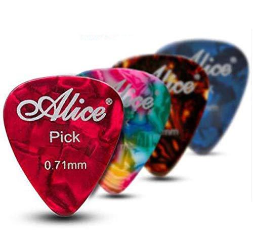 Confezione da 12 x Plettri per Chitarra in Celluloide Plettri Alice Ap600a per Acustica Elettrica Basso Chitarre Medium 0.71mm
