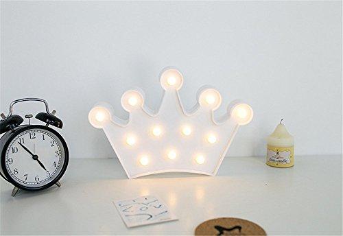 TechSmile Nachtlicht Krone Kinder Nachttisch SüßE Nachttischlampe Children Night Light Deko Kinder MäDchen Babytisch Spielzeug Schlafzimmer Led-Nachtlicht Innenbeleuchtung für Babys Cartoon Orientierungslicht Einschlafhilfe (Weiß)
