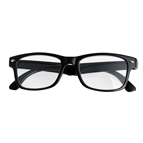 Koehope Lesebrille Komfortables Anti Blaulicht Classic Black Frame Lesebrillen Augenoptik Flexibel Lesehilfe Sehhilfe Anti Blue Rays Leser Brille Dioptrien +1,0 ~ +4,0