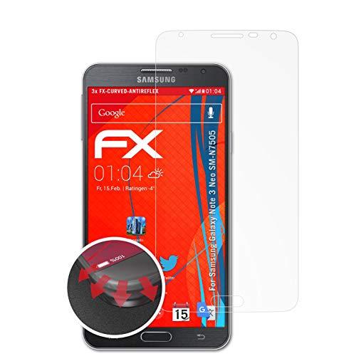 atFolix Schutzfolie passend für Samsung Galaxy Note 3 Neo SM-N7505 Folie, entspiegelnde & Flexible FX Bildschirmschutzfolie (3X)