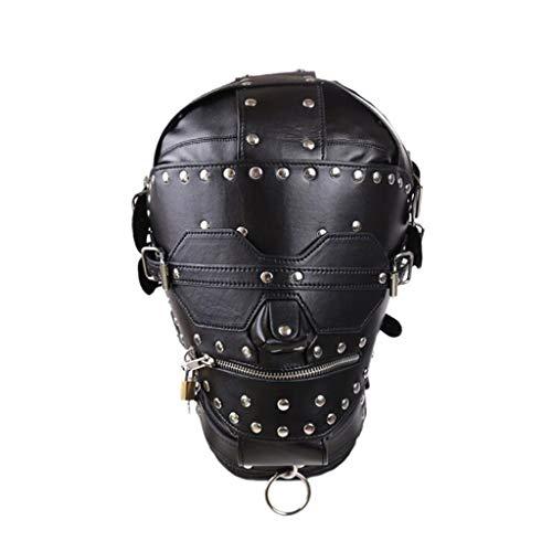 DLDL Halloween Dress up liefert Kapuze geschlossen Reißverschluss Maske Sex Spielzeug Spiel Maske