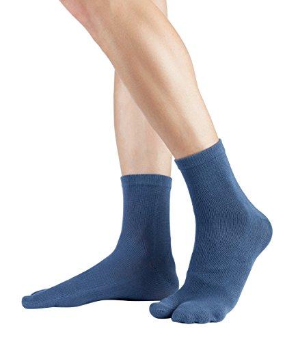 Tabi Kurzsocken | Kurze Zwei-Zehensocken aus Baumwolle, Größe:35-38, Farbe:Dull Blue (Blue Ninja Kostüme)