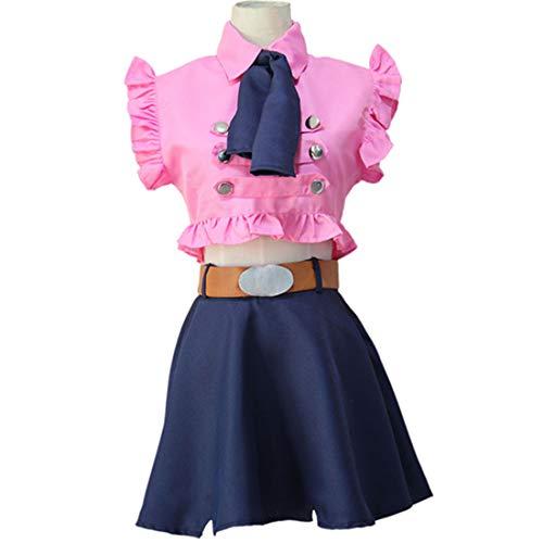 RL Die Sieben Todsünden Elizabeth Liones Cosplay Kostüm Japanischen Anime Nanatsu Keine Taizai Uniform Anzug Outfit Kleidung Halloween Kleider,Full Set-S