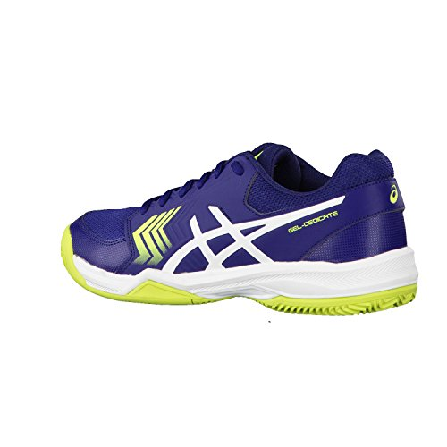 "Herren Tennisschuhe Outdoor ""Gel-Dedicate 5 Clay"" Indigo Blue/White/Safety Yellow"