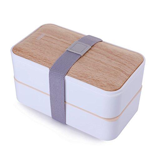 Mercier, scatola per il pranzo a prova di perdite, ottima qualità, stile bento, con posate