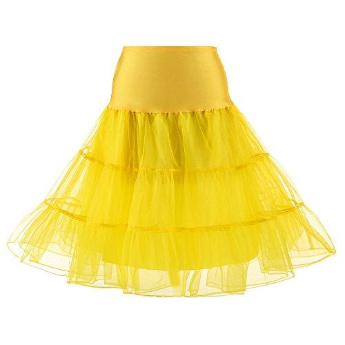 Damen Petticoat 50er Jahre Retro Tutu Tüllrock Normale und Große Größen Kurz Retro Petticoat Rock 1950er Vintage Tutu Ballett Unterkleid
