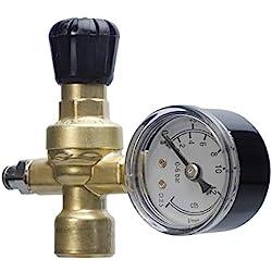 Oxyturbe art. 215300 - Réducteur de pression CO2/Argon/Mix pour poste à souder (bouteille jetable), manomètre à raccord M10x 1RH