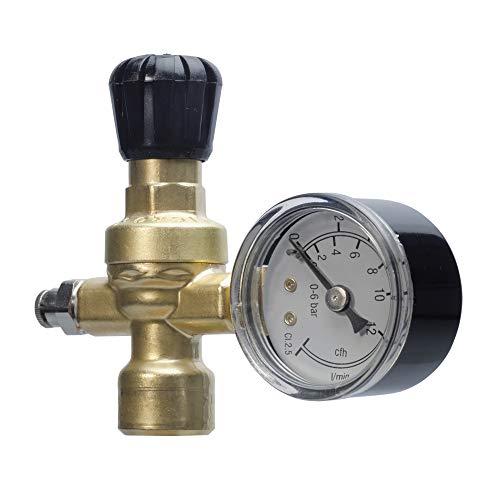 Riduttore di pressione co2 / argon / mix saldatura oxyturbo bombole usa e getta art.215300 attacco m10x1rh per saldatrici