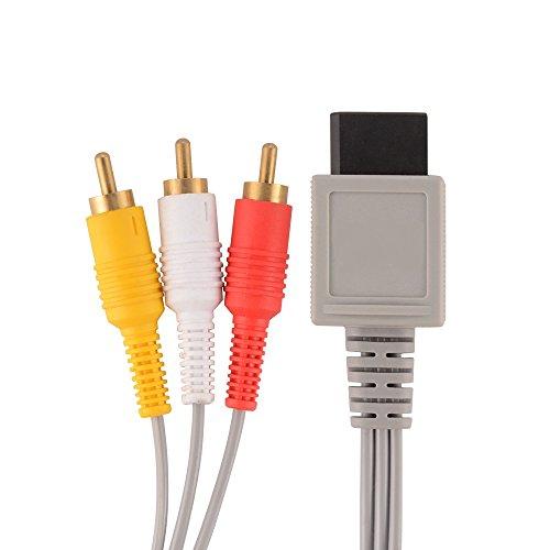 Link-e : cavo AV (audio / video) 1.80m RCA con connettori placcati oro per console di gioco Nintendo Wii