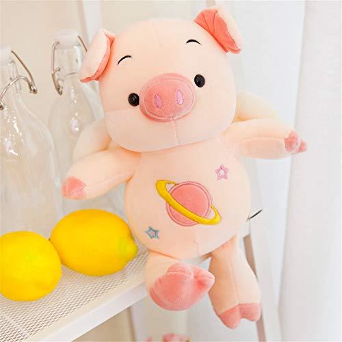 BAONZEN Pig Year Maskottchen süßes Schwein Plüschtier Puppe Schlaf Kissen Puppe Puppe Geburtstag Geschenk Mädchen, 30cm -
