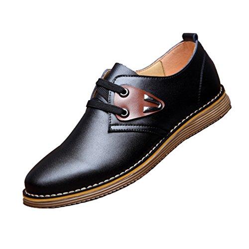 XIGUAFR Homme Chaussure de Travail à Lacet Repirant Chaussure Casual en Cuir