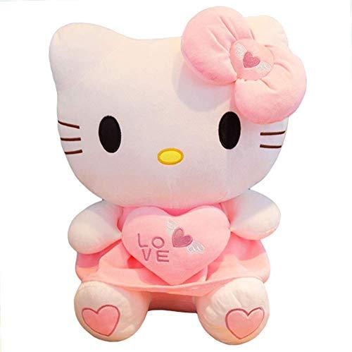 LCCYJ Hallo Kitty Plüsch Spielzeug Kuschelig Stofftiere Kissen Puppe Dekor Geburtstag (30cm-70cm),Pink,40cm (Kitty Puppe Plüsch Hello Spielzeug)