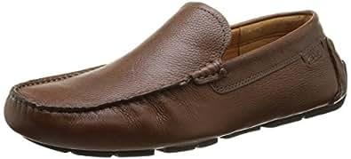 Clarks Davont Drive, Chaussures de Ville Homme - Marron (Tan Interest Lea), 40 EU (6.5 UK)