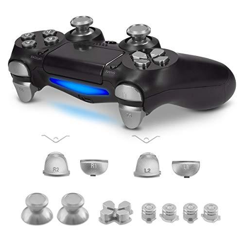 kwmobile Playstation 4 Pro / PS4 Slim Controller (2. Gen) Ersatztasten - mit Schultertasten - Aluminium Ersatz Tasten für Playstation 4 Pro / PS4 Slim Controller (2. Gen)