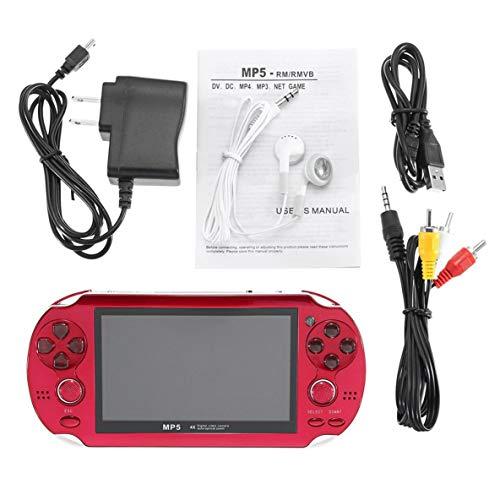 Noradtjcca 4,3-Zoll-tragbarer Handheld-Spielkonsolenspieler mit integrierter 300-Spiele-Videokamera für beide Kinder Erwachsene (Erwachsenen-handheld-spiele)